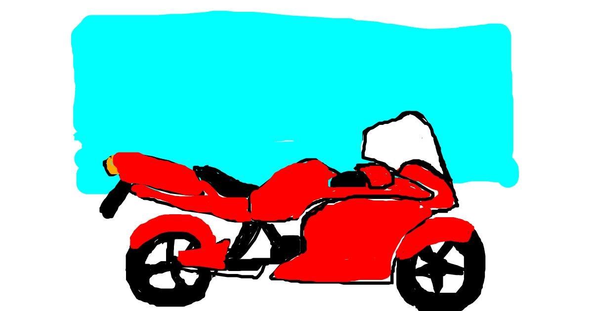 Motorbike drawing by zaffyy
