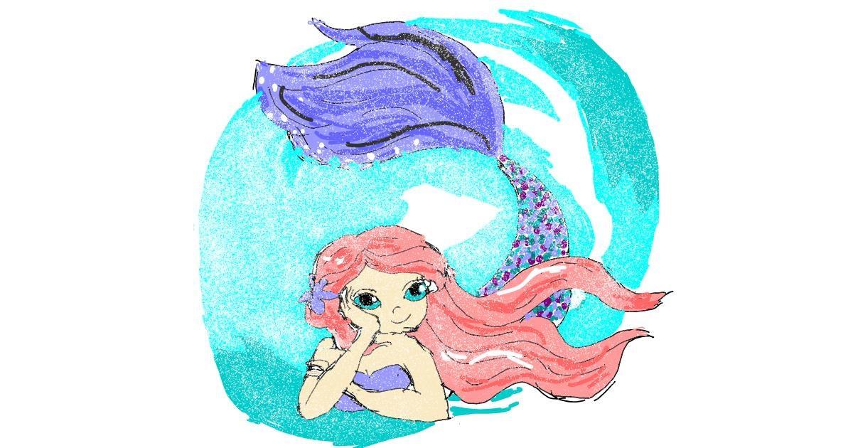 Mermaid drawing by ThasMe13