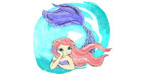 Mermaid drawing by ThasMe13