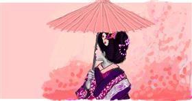 Umbrella drawing by Helena