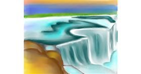 Drawing of Waterfall by Freny