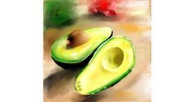 Drawing of Avocado by Aastha