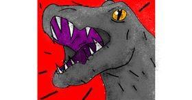 Dinosaur drawing by Data