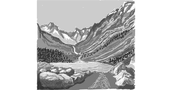 Mountain drawing by Coyote