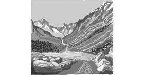 Drawing of Mountain by Coyote
