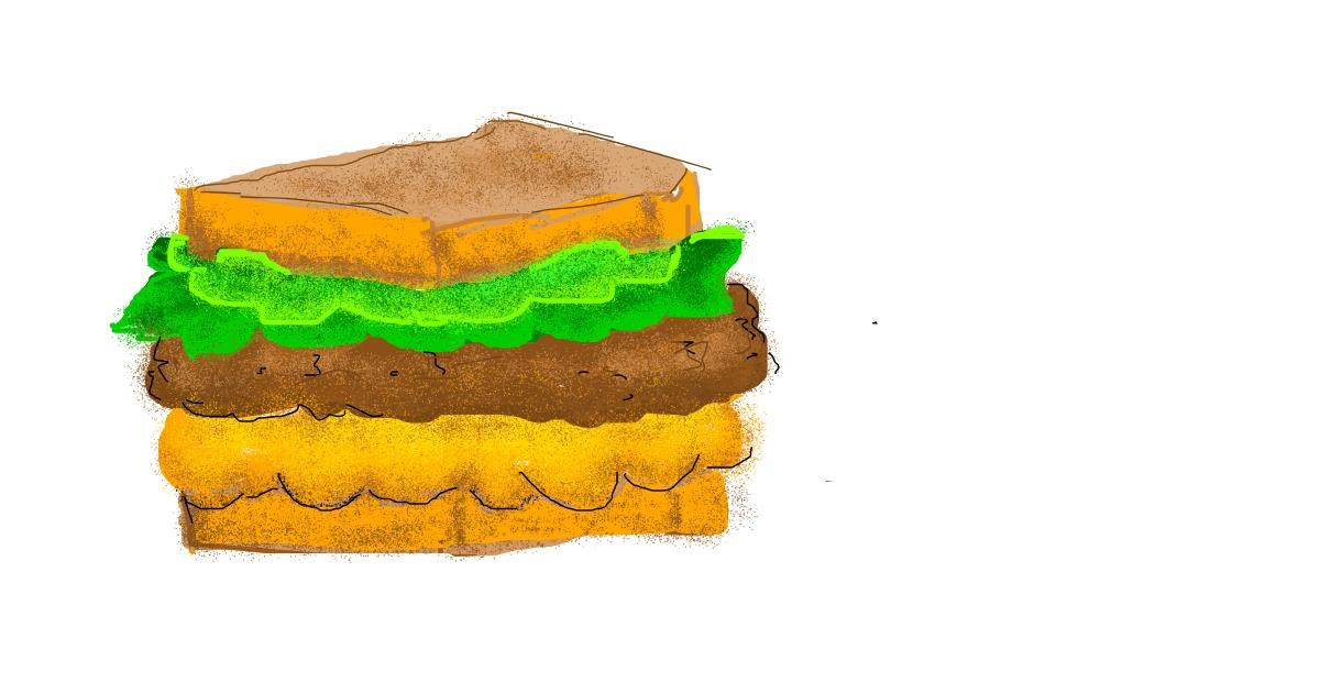 Drawing of Sandwich by polidoll