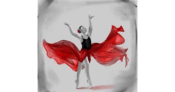 Ballerina drawing by Rose rocket