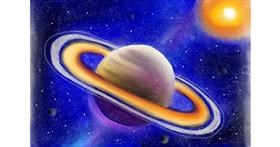 Saturn drawing by Jan