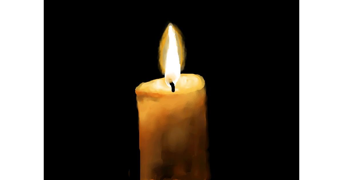 Candle drawing by Sirak Fish