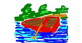 Boat drawing by Firsttry