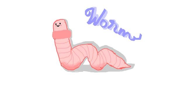 Worm drawing by I draw on computer