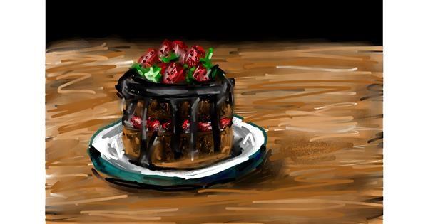 Cake drawing by Soaring Sunshine