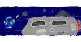 Spaceship drawing by Numi