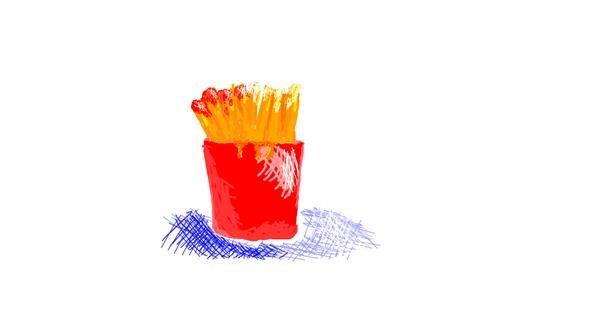 French fries drawing by lola