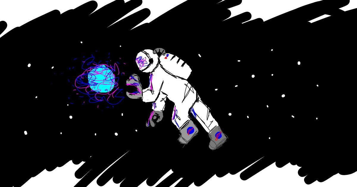 Astronaut drawing by DemonDoggo~~