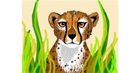 Cheetah drawing by Darta
