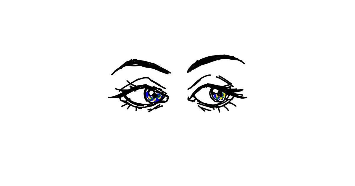 Eyes drawing by trucknuts