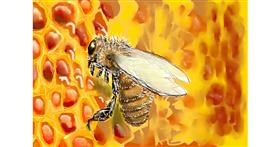 Bee drawing by DaVinky