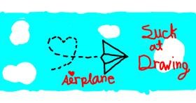 Airplane drawing by Jazzy
