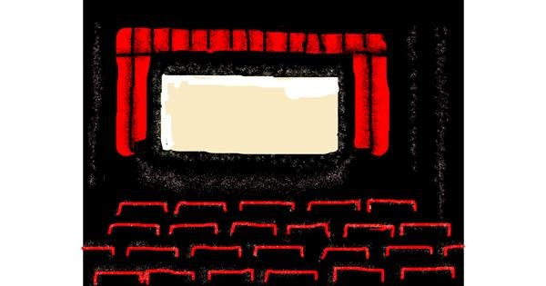 Cinema drawing by Anonymous