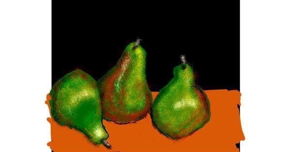 Pear drawing by Cherri