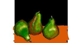 Pear drawing by Cherri
