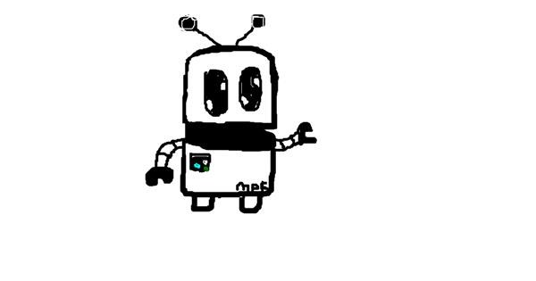 Robot drawing by MPK