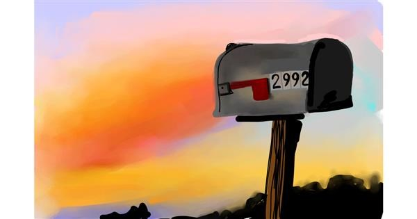 Mailbox drawing by Rose rocket