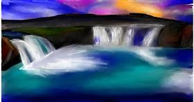 Drawing of Waterfall by Soaring Sunshine
