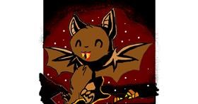 Bat drawing by Leo🐾