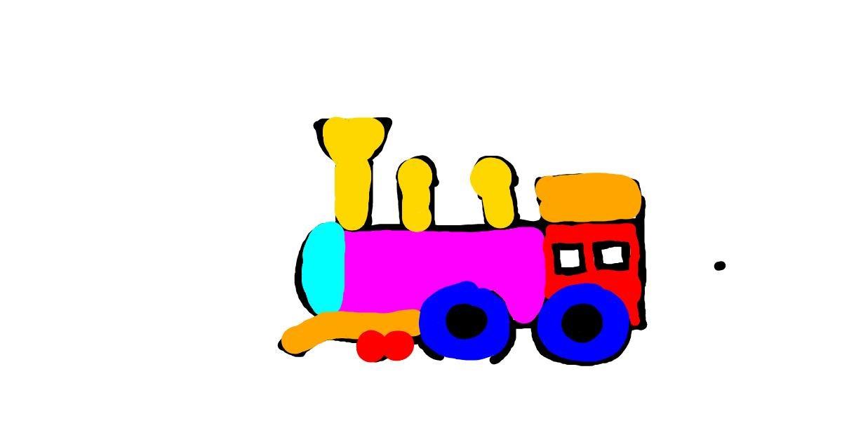 Train drawing by sara