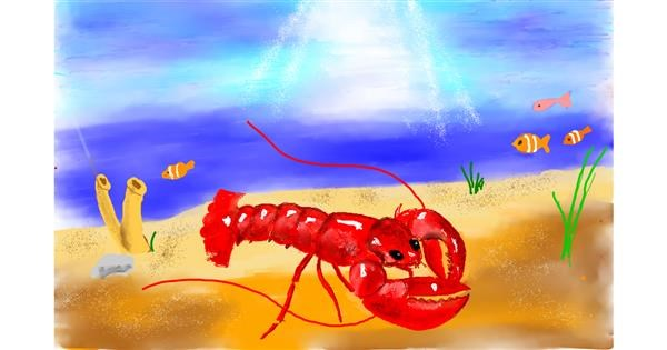 Lobster drawing by GJP