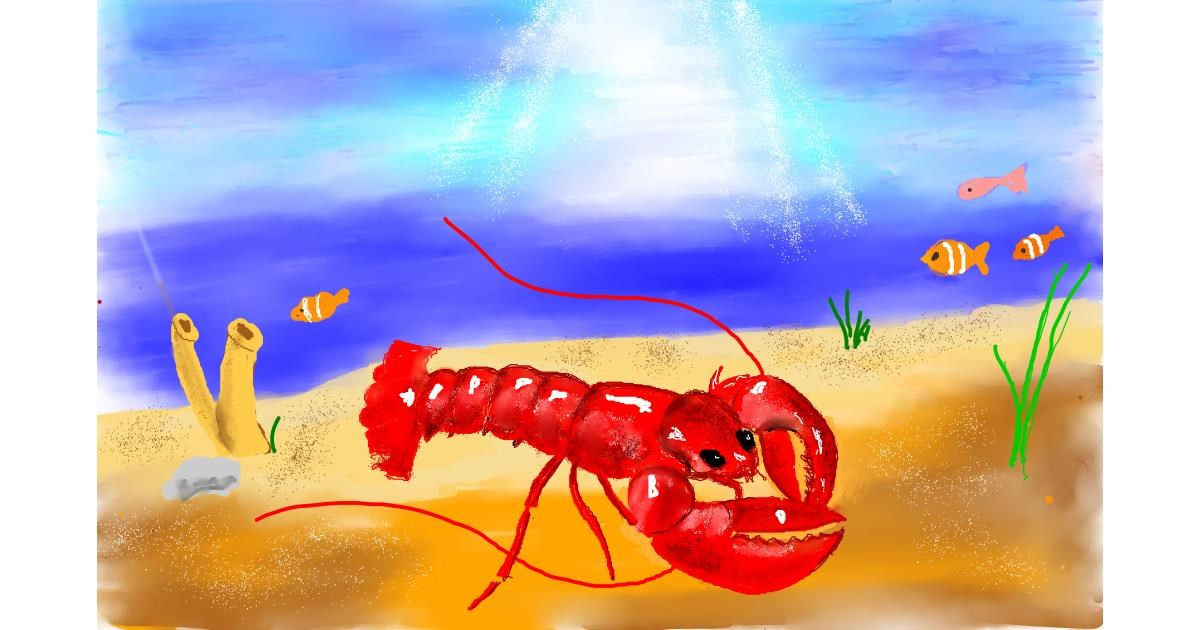 Drawing of Lobster by GJP