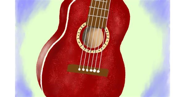 Guitar drawing by GJP