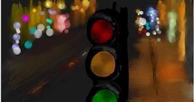 Drawing of Traffic light by Ryu