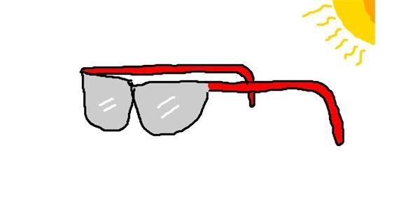 Sunglasses drawing by BrambleStar