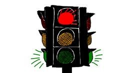 Traffic light drawing by Lilli