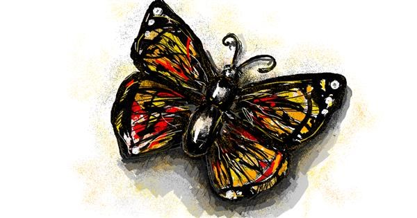 Butterfly drawing by Babyone
