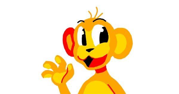 Monkey drawing by Blue Giraffe