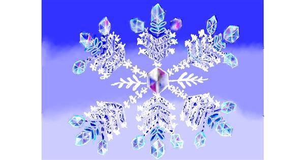 Snowflake drawing by SAM 🙄