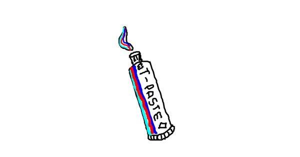 Toothpaste drawing by bloop