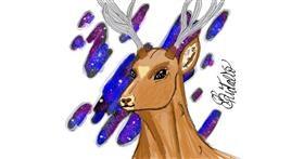 Deer drawing by BRIDALIO🍌