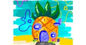 Pineapple drawing by Nan