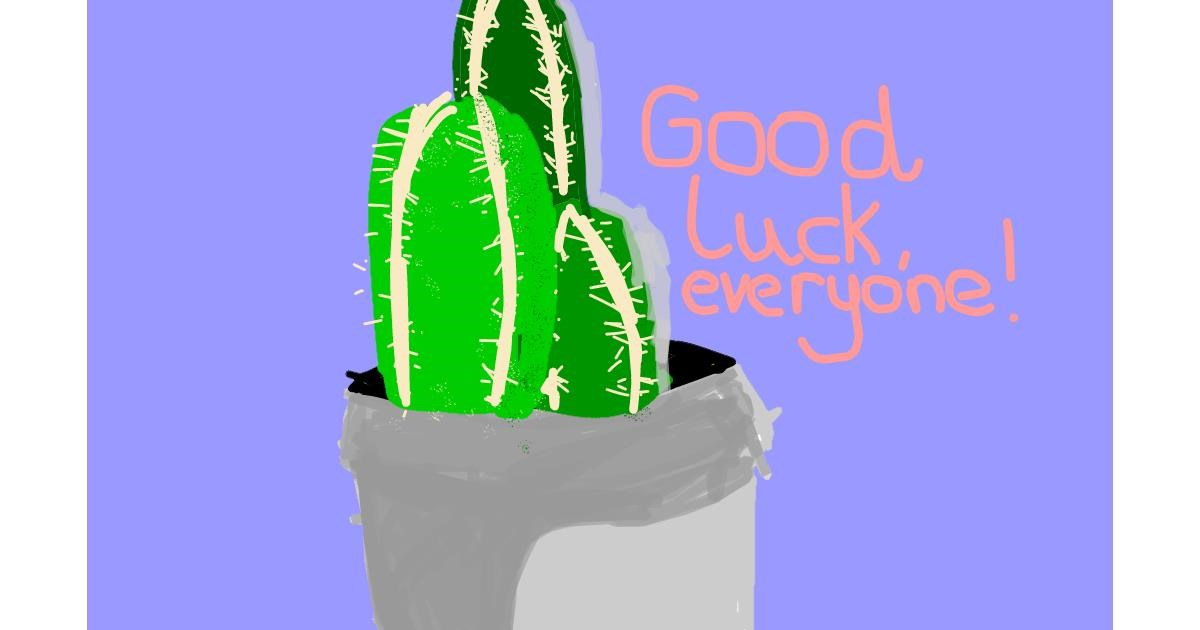 Cactus drawing by Angel Dust