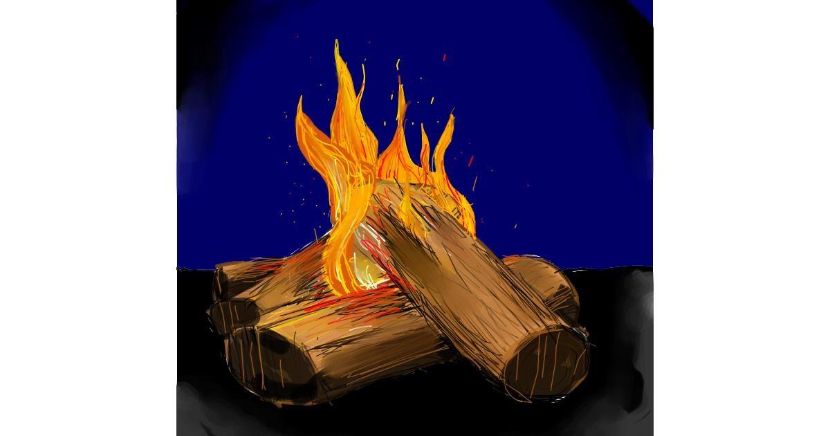 Drawing of Campfire by äläläälä