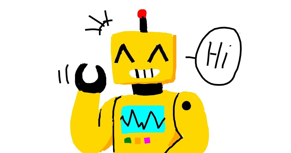 Drawing of Robot by Mr Banana