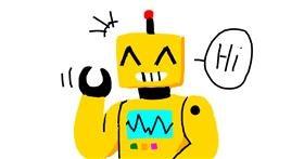 Robot drawing by Mr Banana