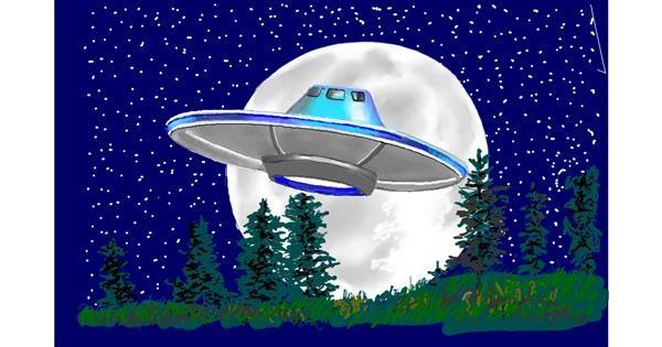 Spaceship drawing by GJP