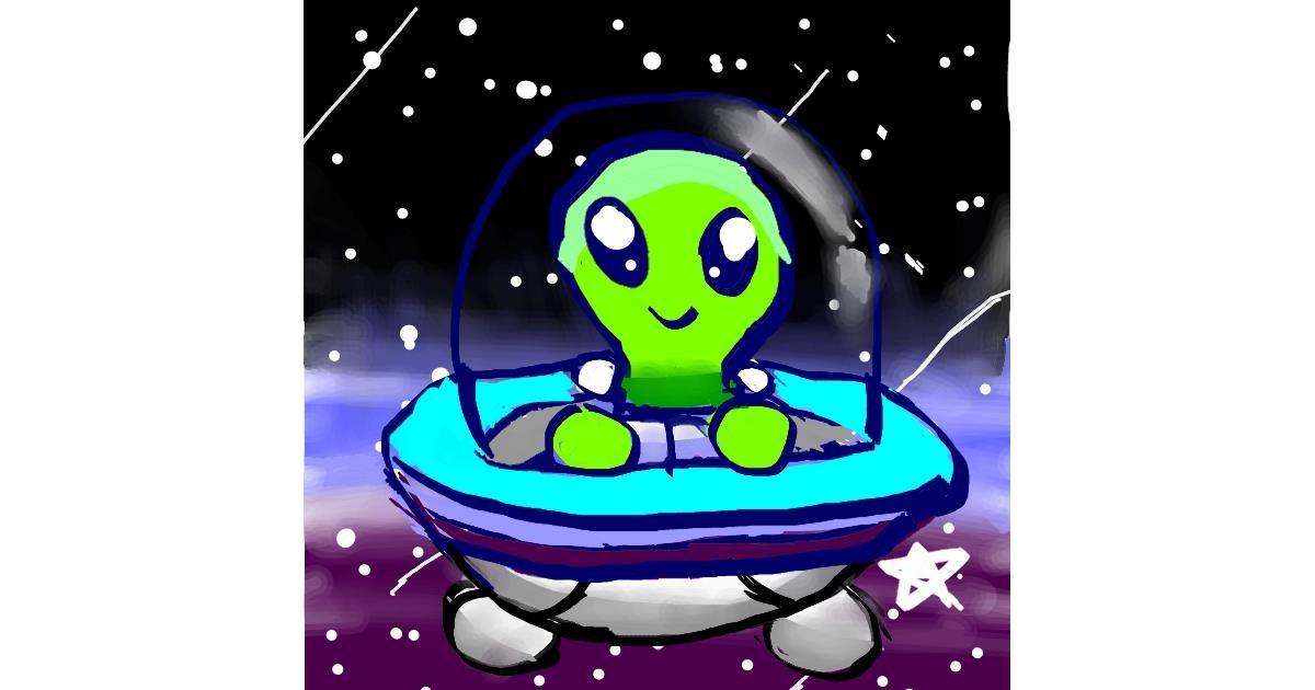 Alien drawing by 😊😊