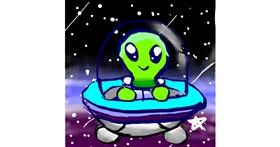Drawing of Alien by 😊😊